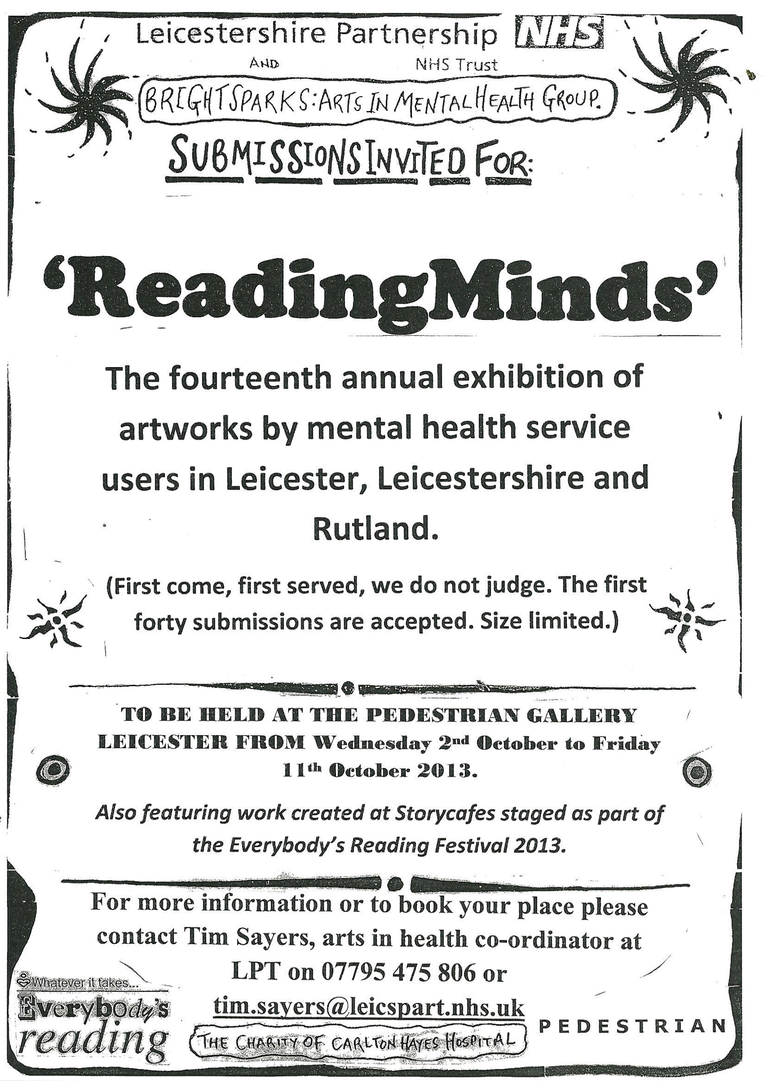 Reading Minds Annual Exhibition!